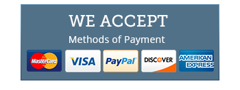 We accept electronic payment of the following types